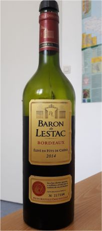 Photo d'une bouteille de Baron de Lestac Bordeaux