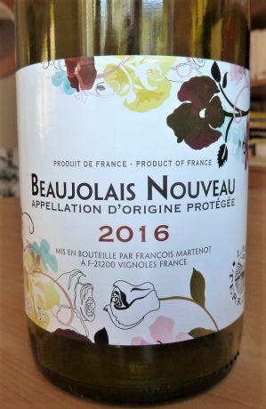 Photo d'une bouteille de François Martenot Beaujolais-Nouveau