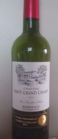 Photo d'une bouteille de Château Haut Grand-Champ Bordeaux