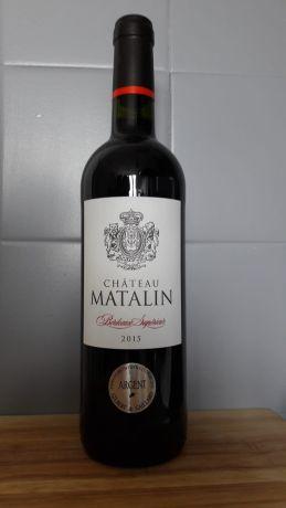Photo d'une bouteille de Château Matalin Bordeaux-supérieur