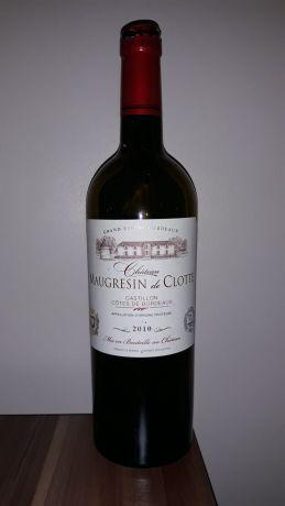 Photo d'une bouteille de Château Maugresin de Clotte Castillon-Côtes-de-Bordeaux