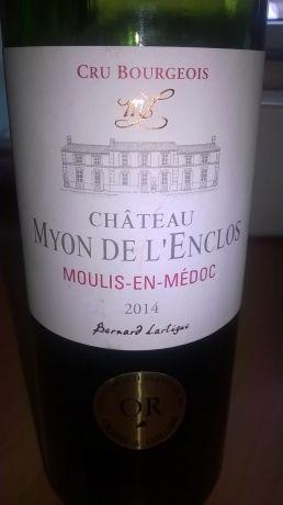 Photo d'une bouteille de Château Myon de l'Enclos Moulis-en-Médoc