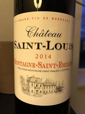 Photo d'une bouteille de Chateau Saint-Louis Montagne-Saint-Emilion