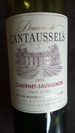 Photo d'une bouteille de Domaine de Cantaussels canernet sauvignon Vin de pays d'Oc