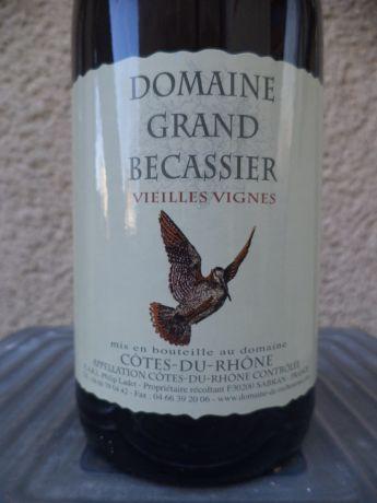Photo d'une bouteille de Domaine Grand Bécassier Côtes-du-Rhône
