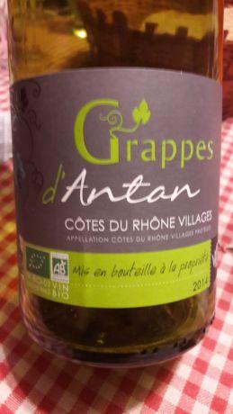Photo d'une bouteille de Grappes d'Antan Côtes-du-Rhône-Villages