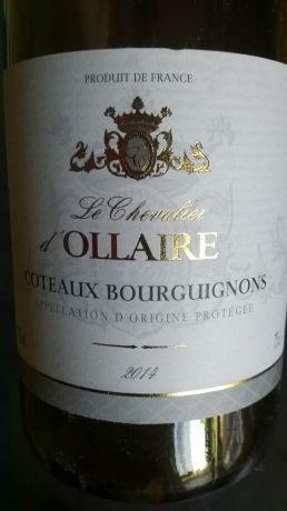 Photo d'une bouteille de Le Chevalier d'Ollaire Côteaux-Bourguignons (ou Bourgogne-Grand-Ordinaire)