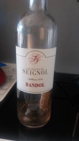 Photo d'une bouteille de Les Hauts de Seignol Bandol