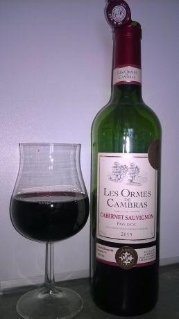 Photo d'une bouteille de Les Ormes de Cambras Vin de pays d'Oc
