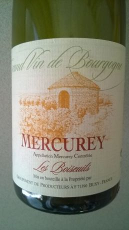 Photo d'une bouteille de Mercurey les boiseuils Mercurey