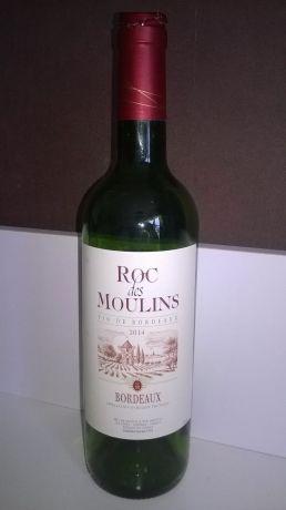 Photo d'une bouteille de Roc des Moulins Bordeaux